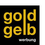 Goldgelb Werbung